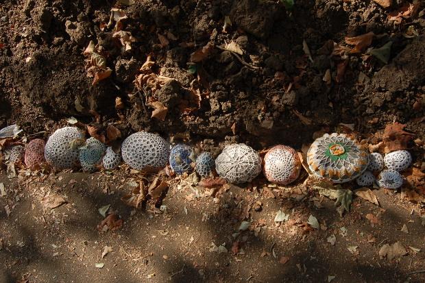 crocheted rock cozies