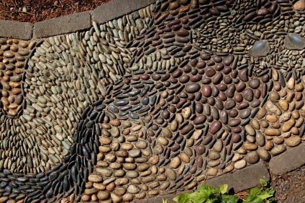 pebble mosaic by jeffrey bale closeup