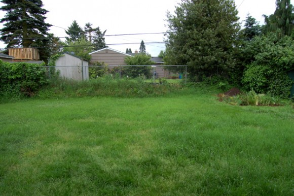 backyard landscaping ideas and before and after photos back fence before 060614 034