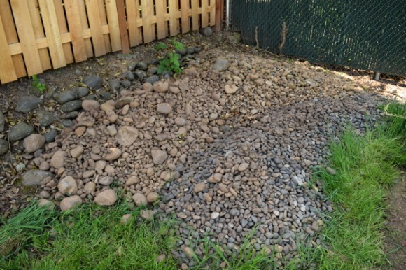 backyard landscaping ideas and before and after photos rocks 050315 073