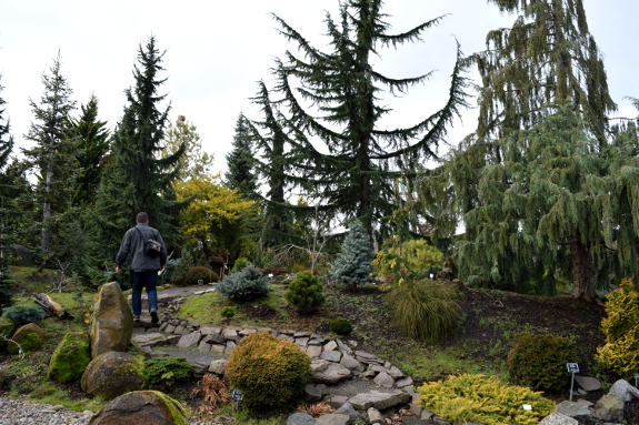 The hubby on our visit to the Oregon Garden.